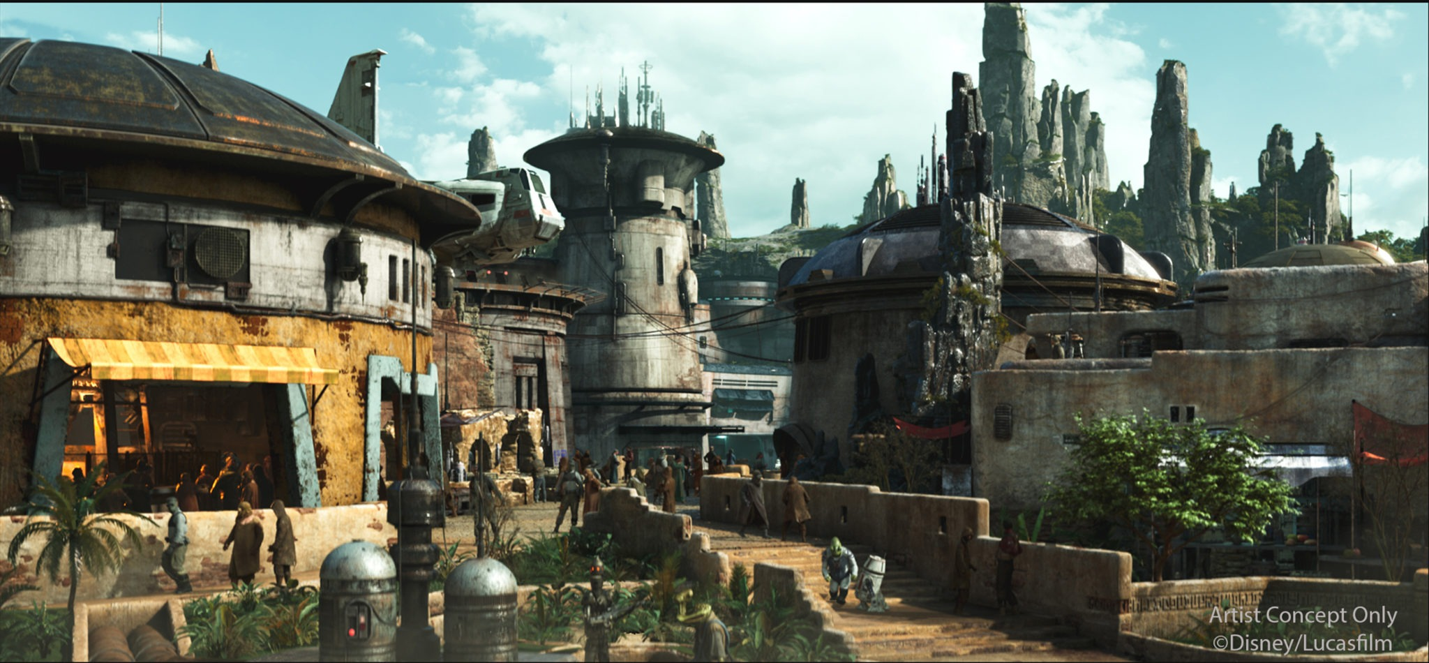 Black Spire Outpost is the name of the village inside of the upcoming