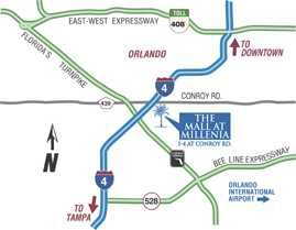 The Mall at Millenia drivinf directions