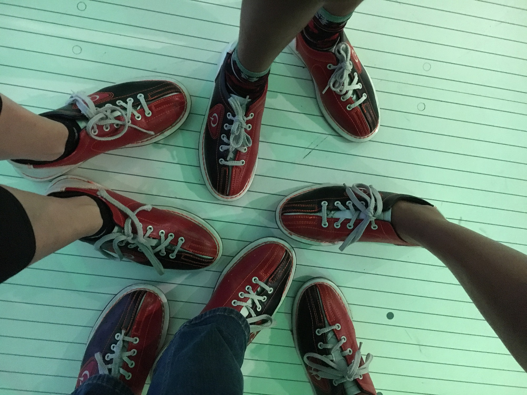 Comfort bowling shoes at Andretti's in orlando