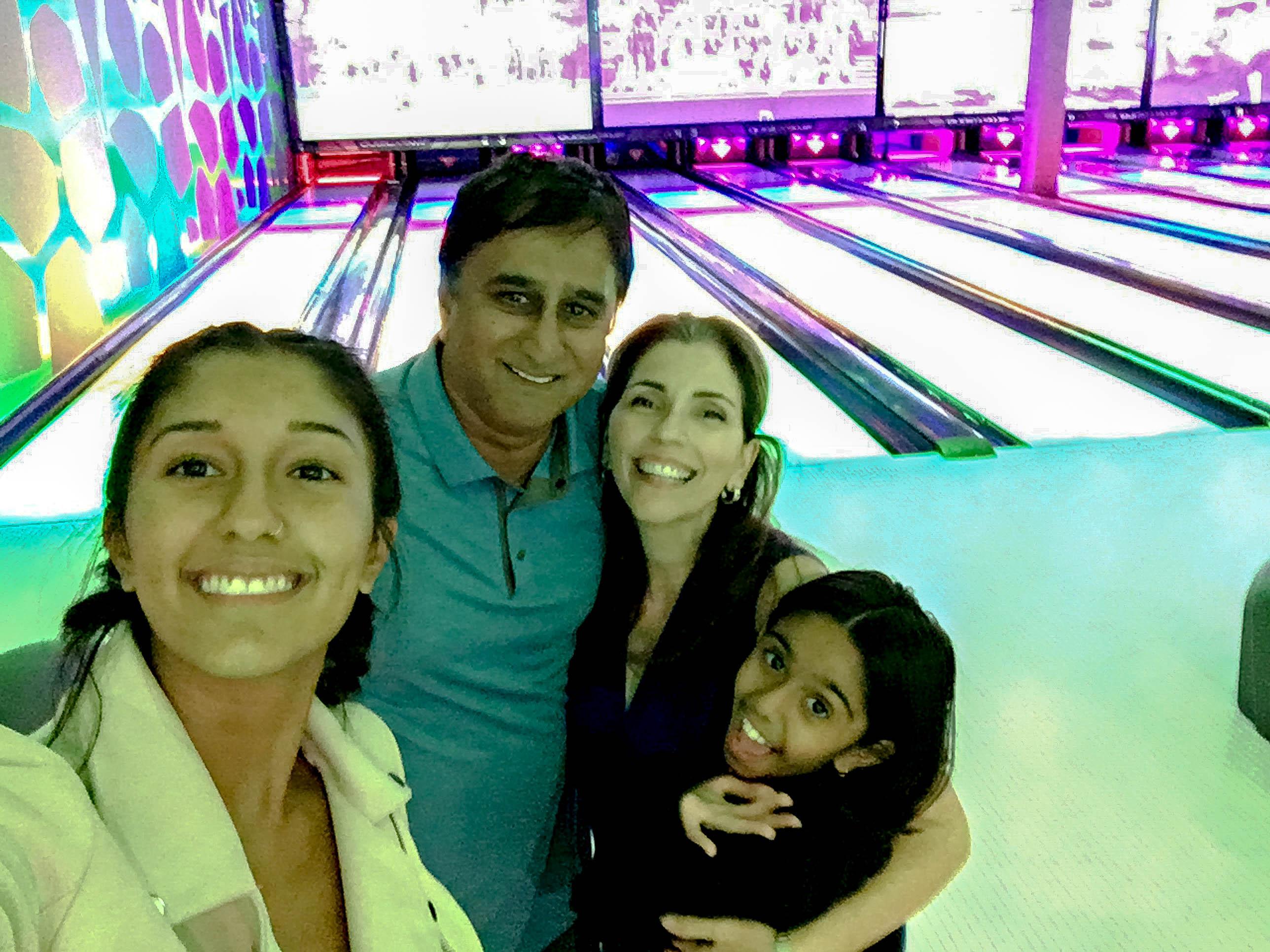 Bowling in Andretti's in Orlando Florida