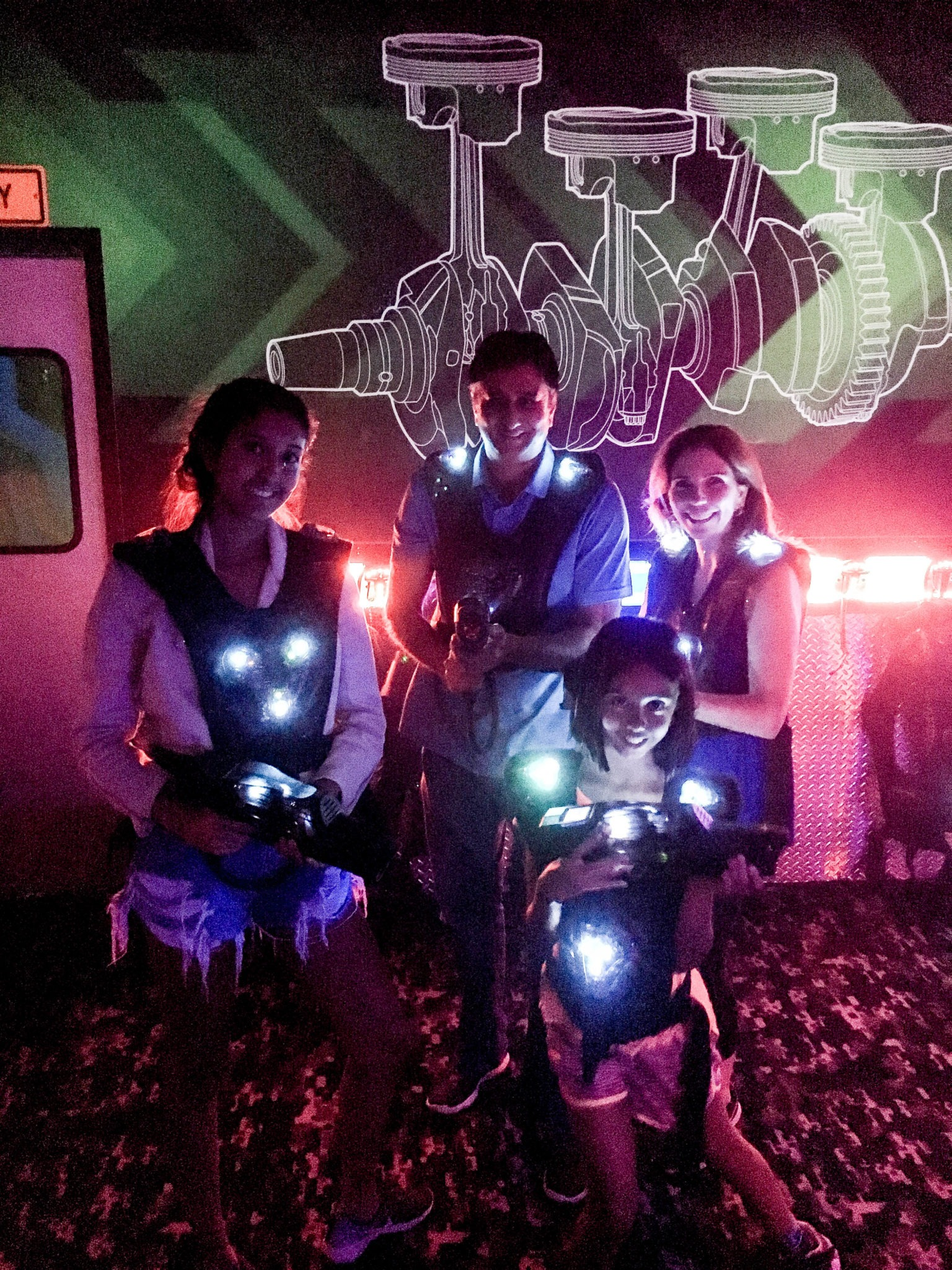 laser tag at Andretti Indoor Karting & Games in Orlando