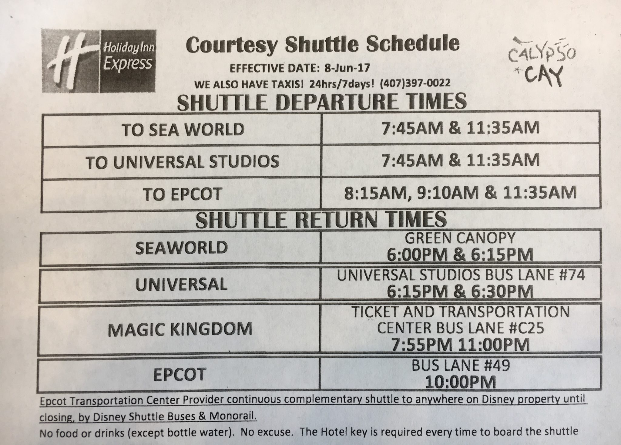 Free shuttle services