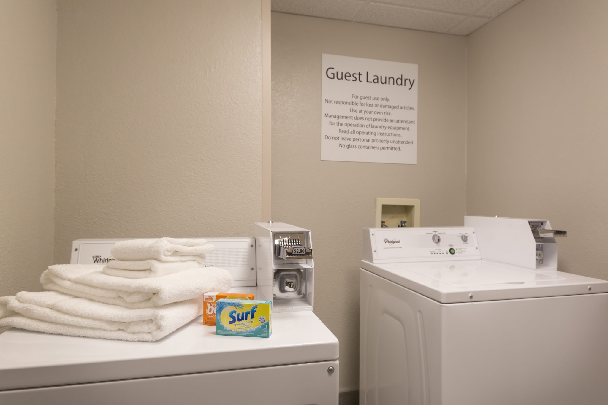 On-site guest laundry