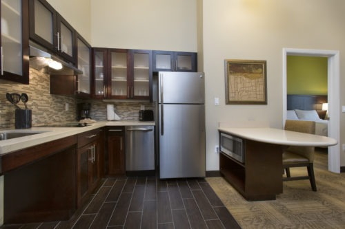 Staybridge Suites Orlando near SeaWorld suite kitchen