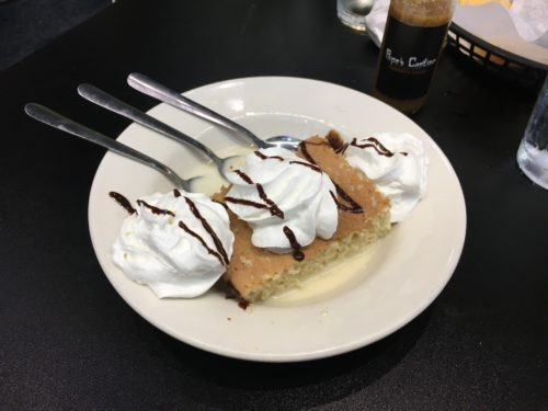 pepe's cantina restaurant tres leche