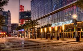Amway Center at dawn