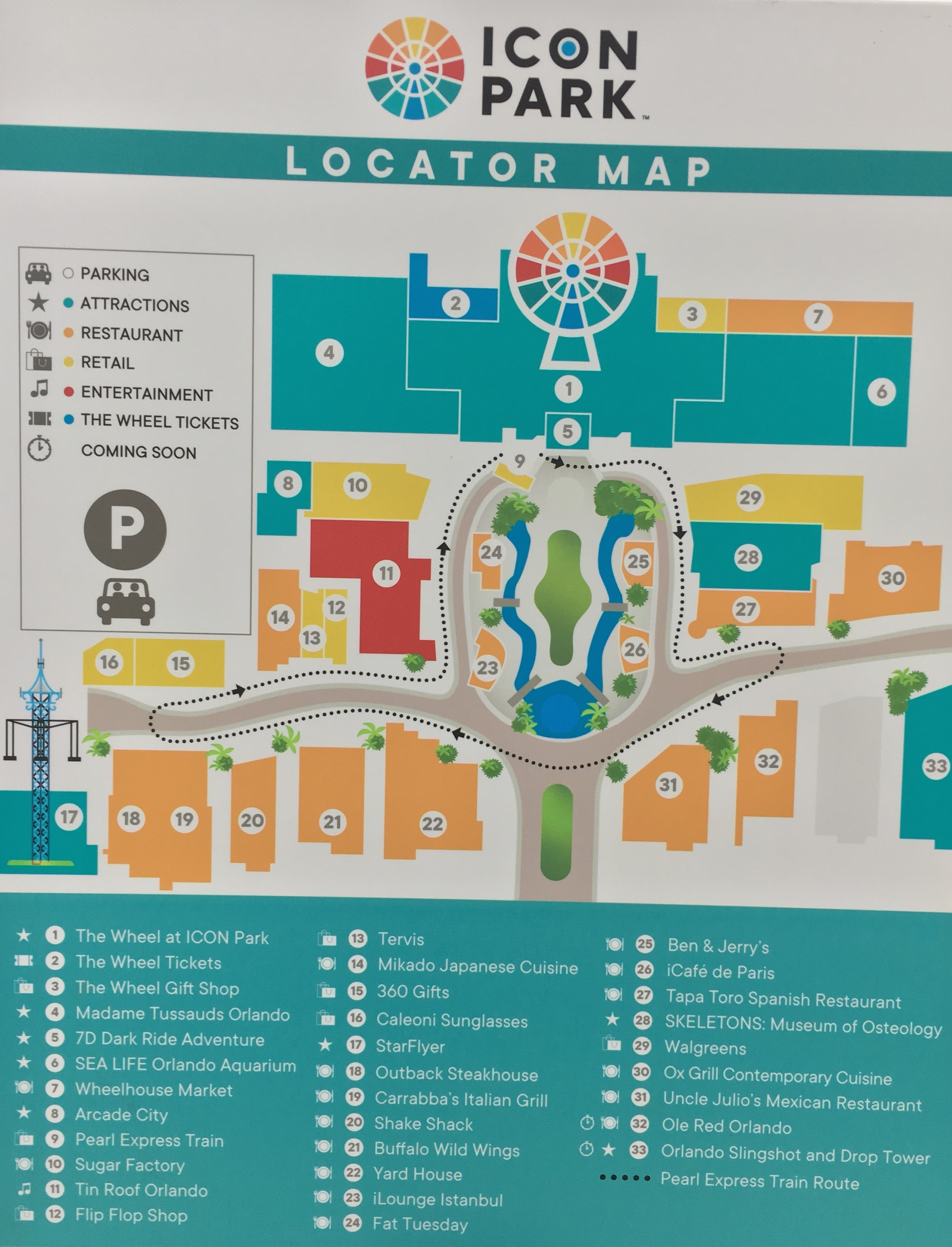 ICON Park map