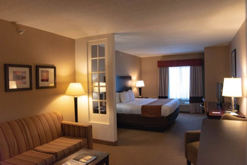 comfort suites near orlando international airport king room